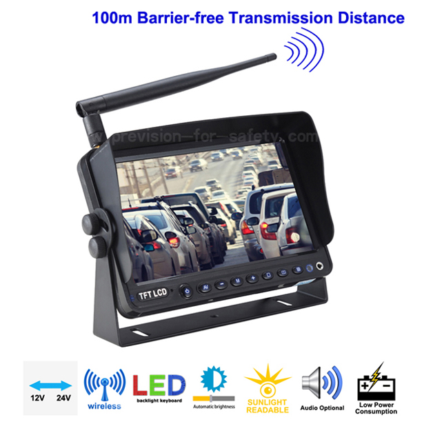 9 Inch Analog Wireless Vehicle RV Backup Monitor P...