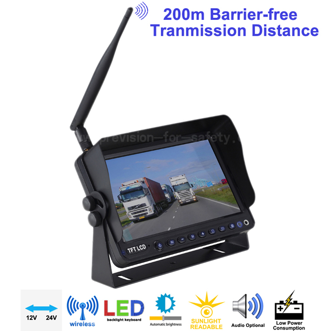 7 Inch Digital Wireless Vehicle RV Backup Monitor ...