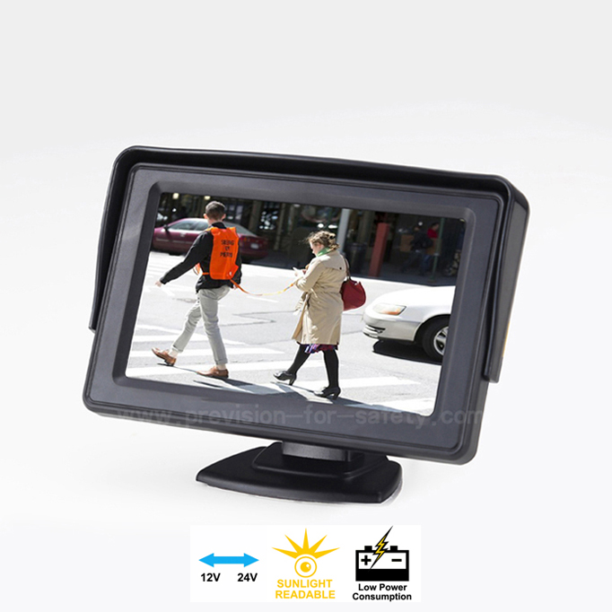 4.3 Inch Dashmount Car RV Backup Monitor PVS-438