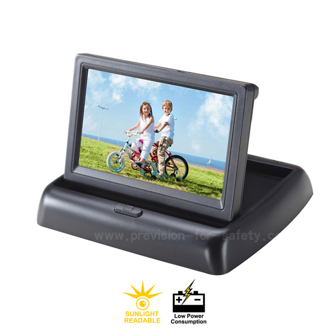 4.3 Inch Car RV Backup Folding Monitor PVS-436