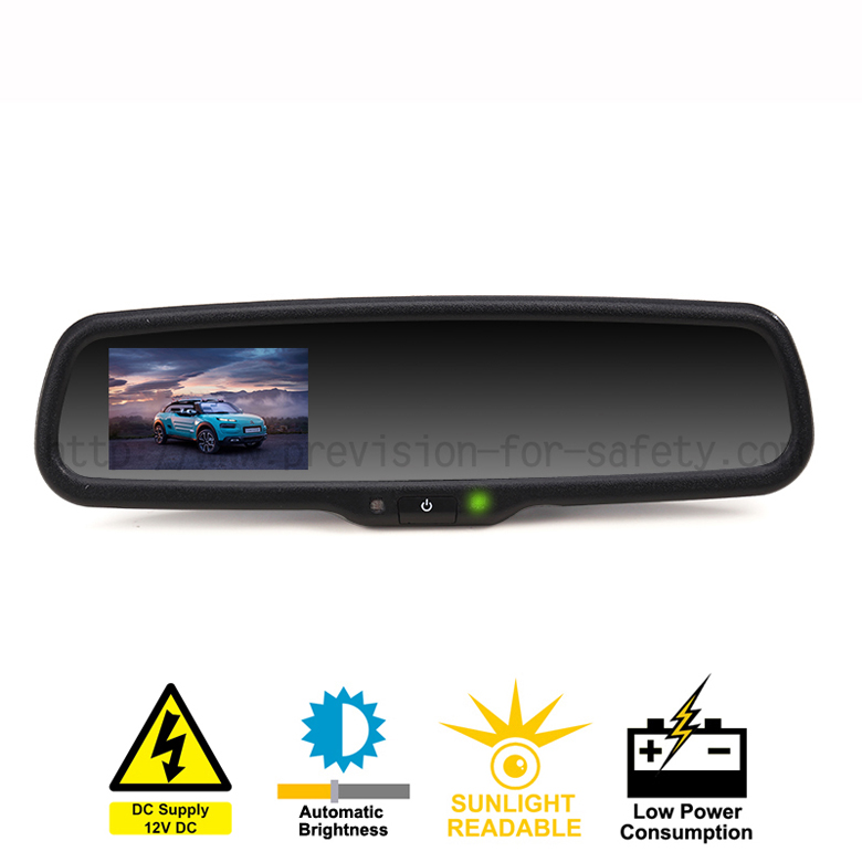 Rearview Mirror with 3.5 Inch Auto Dimming Monitor...