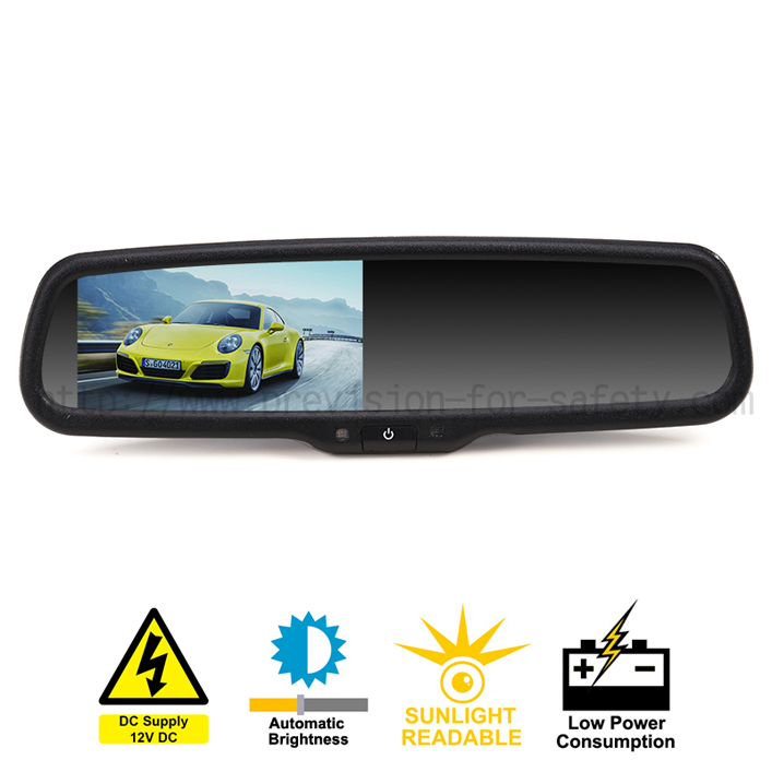 Vehicle Rearview Mirror with 4.3 Inch Auto Dimming...