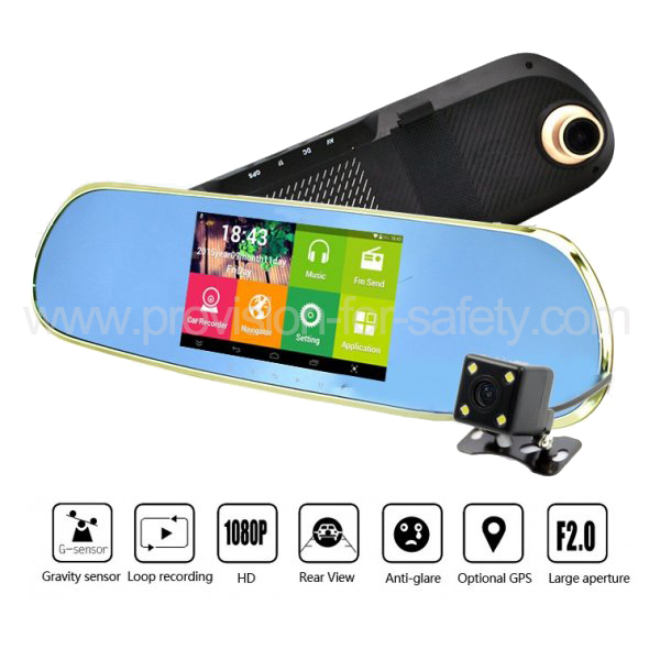 5 Inch 1080P HD Dual Recording Car DVR With Multip...