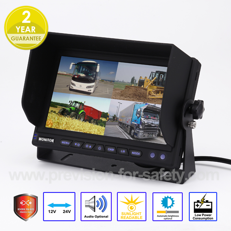 7 Inch Quad RV Backup Monitor PVS-7108Q